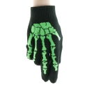 Bone Hand Gloves Green