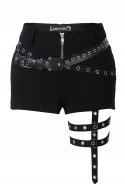 Punk Rivet Shorts with Surround Thigh Design